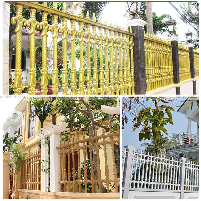 Hàng rào bê tông ly tâm biệt thự